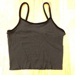 4/$10 💙 VINTAGE VS mesh crop top w/ velvet straps